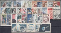 FRANCIA 1965 Nº 1435/1467 AÑO NUEVO COMPLETO SIN CHARNELA 33 SELLOS - 1960-1969