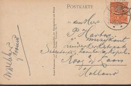 INFLA DR 189 EF, Ins Ausland, Auf Ansichtskarte: Rolandseck, Gestempelt: Drachenfels 22.8.1922 - Infla