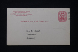 ETATS UNIS - Entier Postal (Grant) Avec Repiquage Commerciale Au Verso (Alcool) De New York Pour L 'Allemagne - L 89915 - ...-1900
