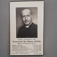 Bidprentje EH Lievens Martinus ° Geel Bel 1887 Er Overl 1958 Priester Mechelen Ukkel St Job Herent Antwerpen St Norbertu - Todesanzeige