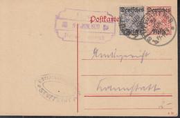 INFLA  Ganzsache DP 14/02 + ZFr  Dienst 60 X, Gestempelt: Stuttgart 11.JUN 1920 - Infla