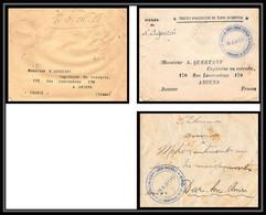 0869 Lot 3 Lettres Meknès 2ème Bat Infanterie Légère D'afrique Commandant Détachement Cover France Guerre Maroc War - Sellos Militares Desde 1900 (fuera De La Guerra)