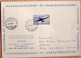 Schweiz Suisse 1944: PRO AERO Douglas DC3 Zu 40 Mi 438 Yv PA39 GROSS-Brief O LAUSANNE 20.IX.44 > ZÜRICH (Zu CHF 32.50) - Erst- U. Sonderflugbriefe