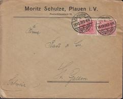 INFLA 2x 145 II MeF Auf Auslands-Brief Der Fa. Moritz Schulze, Stempel:Plauen 18.12.1920 - Infla