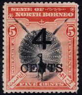 ✔️ North Borneo 1899 - Pavo Birds With Overprint - Mi. 80 * MH - €25 - Nordborneo (...-1963)