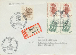 BERLIN 1969 Berliner Des 19.Jahrhunderts 10 Pf Pferdeomnibus; 20 Pf (Paar) Schuster; 30 Pf (Paar) Berlinerinnen R-FDC - Cartas