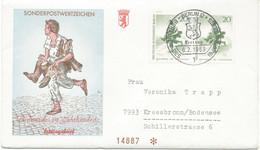 BERLIN 1969 Berliner Des 19.Jahrhunderts 20Pf (2x) Schusterjunge; Zeichnung Von Franz Krüger (1797-1857), Maler Pra.-FDC - Cartas