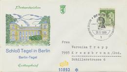 BERLIN 1969, Freimarke: Deutsche Bauwerke Aus Zwölf Jahrhunderten, Schloss Tegel, Berlin 1,30 DM   Auf Kab.-FIDACO-FDC - Cartas