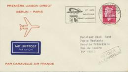 BERLIN 1969 Erstflug Air France Erster Nonstopflug Mit Caravelle BERLIN – PARIS - Cartas