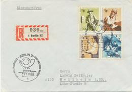 BERLIN 1969Weltkongress Des Personals Der Post-, Telegrafen- Und Telefonbetriebe (IPTT), Berlin Kompletter Satz Auf FDC - Cartas