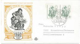 BERLIN 1969, Berliner Des 19. Jahrhunderts 20 Pf (2x) Schuster MeF Portogerechte FDC - Cartas