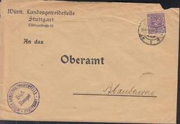 INFLA Württ. Dienst 252 EF, Auf Brief Der Fleischversorgungsstelle Mit Stempel: Stuttgart 14.4 1919 - Infla