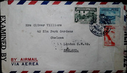 F 19 1940/45     Lettre  Censurée Pérou Angleterre - Briefe U. Dokumente