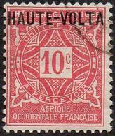 Haute Volta Obl. N° Taxe  2 - Ornements Le 10c Rose - Oblitérés