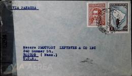 F 19 1940/45     Lettre  Censurée Argentine Usa - Lettres & Documents