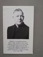 Bidprentje EH Van Hoof ° Mol Sluis 1925 Overl  O.L.V. Olen 1982 Leraar Geel Pastoor Schilde Retie - Todesanzeige