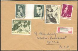 Série ALBERT Et PAOLA Obl. Sc SCHAERBEEK 1 Sur Lettre Recommandée Du 20-11-1963 Vers B.P.S 6 En Allemagne. TB - 17366 - Cartas