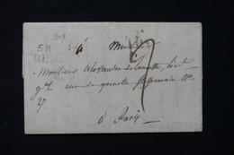 FRANCE - Marque Postale De Creil Sur Lettre Pour Paris En 1825 - L 89920 - 1801-1848: Precursors XIX
