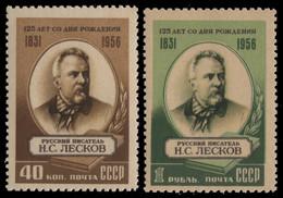 Russia / Sowjetunion 1956 - Mi-Nr. 1843-1844 ** - MNH - N. Leskow / N. Leskov - Unused Stamps