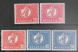 Switzerland   1957-60  Sc#5O28-32   5 Diff MLH  2016 Scott Value $6.10 - OMS