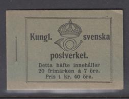 Sweden Booklet 1918 - Facit 9 R MNH ** - 1904-50