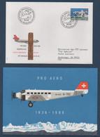 CH 1988 50ème Anniversaire Pro Aero 19/05/88 : Vol Spécial Zürich-Anchorage En DC10 + Enveloppe Spéciale - Erst- U. Sonderflugbriefe