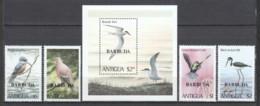Barbuda 1980 Mi 520-523 + Block 54 MNH BIRDS - Altri