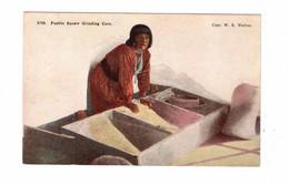 "USA Indian, ""Pueblo Squaw Grinding Corn"", Pre-1915 Postcard - America"