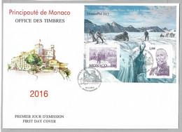 """TIR4 - Monaco 2015 Bloc F3008 Sur FDC 03.12.2015  """"La Philatélie Polaire"""" Campagnes Arctiques Du Prince Albert 1er - Sin Clasificación"""