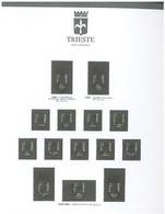 ITALIE  TRIESTE ZONE A  28 FEUILLES GBE EN TRES BON ETAT (AVEC CLASSEUR 2 ANNEAUX + RELIURE OFFERT) Voir Scans - Raccoglitori Con Fogli D'album