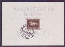 Deutsches Reich München-Riem 1936 - Das Braune Band Block 4 Sonderstempel (125) - Blokken