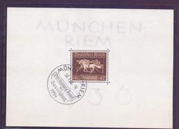 Deutsches Reich München-Riem 1936 - Das Braune Band Block 4 Sonderstempel (845) - Blokken