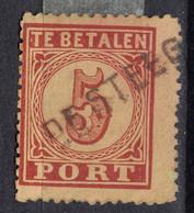 Nederland Netherlands 1870, Portzegel P1, Langstempel DE STEEG (Egyptisch) - Used Stamps
