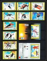 664f Umm Al Qiwain MNH ** Mi N° 454/463 B + Bloc 30/31 Non Dentelé (imperf) Jeux Olympiques Olympic Games Sapporo 72 - Winter 1972: Sapporo