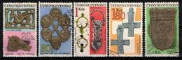 Tchécoslovaquie 1969 Mi 1898-1902 (Yv 1744-8), Obliteré, - Usados