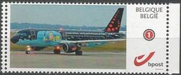 DUOSTAMP/MYSTAMP**- Tintin, Milou, Avion - Kuifje,Bobbie, Vliegtuig - Tim,Struppi,Flugzeug - Tintin,Snowy, Plane (Hergé) - Persoonlijke Postzegels
