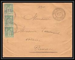 114524 Lettre Cover Bouches Du Rhone Puyloubier N°106 Sage X3 Pour Fuveau 1900 - 1877-1920: Semi-moderne Periode