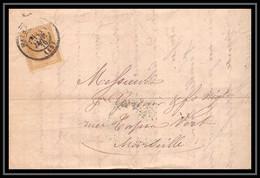 Lettre-110195 LAC Bouches Du Rhone Marseille Napoléon N°28 T2 Cad T15 11/1/1870 Pour Marseille - 1849-1876: Klassieke Periode