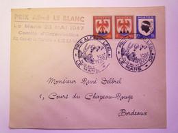 2021 - 966  Enveloppe  Au Départ De LE MANS à   Destination De BORDEAUX  1947  (Cachet PRIX ALFRED LEBLANC)   XXX - Briefe U. Dokumente