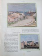 1929 Sete Cette      Montée Des Bédouins    Quai Pasteur  Barque Rampe De La Bourse   Corniche   PONT VIRLA  GOULINAT - Sete (Cette)