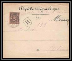 """Lettre-112763 Bouches Du Rhone N°97 Sage Recommandé Saint-Chamas Dzvant De Lettre """" - 1877-1920: Semi Modern Period"""