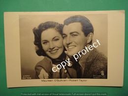 PNRJ79 Maureen O'Sullivan And Robert Taylor Cinema Actors Photo Postcard - Attori