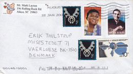 United States AIKEN SC. 2000 'Petite Cover Brief VÄRLÖSE Denmark Hattie McDaniel Irving Berlin 2x Jewelry - Cartas