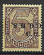 HAUTE SILESIE    -   SERVICE  -   1920 .   Y&T N° 20 * .  Surcharge Renversée + Normale - Silesia (Lower And Upper)