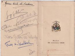 ADEL NOBLESSE  MAELE 25 OCTOBRE 1938   ZIE 3 SCANS - Menus