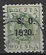 SILESIE  ORIENTALE   -   1920 .   Y&T N° 35 Oblitéré . - Silesia (Lower And Upper)