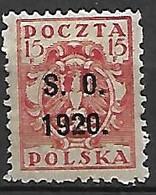 SILESIE  ORIENTALE   -   1920 .   Y&T N° 37 * - Silesia (Lower And Upper)