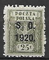 SILESIE  ORIENTALE   -   1920 .   Y&T N° 38 * - Silesia (Lower And Upper)