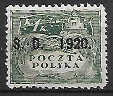 SILESIE  ORIENTALE   -   1920 .   Y&T N° 40 * - Silesia (Lower And Upper)