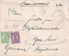 ROUMANIE 1923 LETTRE RECOMMANDEE DE OLTENITA - Briefe U. Dokumente